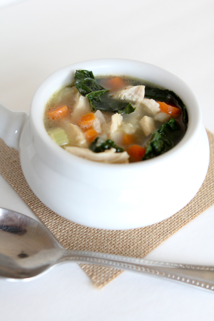Chunky Chicken + Veggie Soup from the Whole Smiths - Gluten Free - Paleo Friendly and Whole30 compliant.