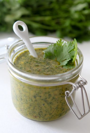 Paleo Chimichurri from the Whole Smiths. Great as a marinade or topping any vegetable or protein. Paleo friendly, gluten-free and easy to make Whole30 compliant.