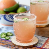 Spicy Honey + Grapefruit Margarita