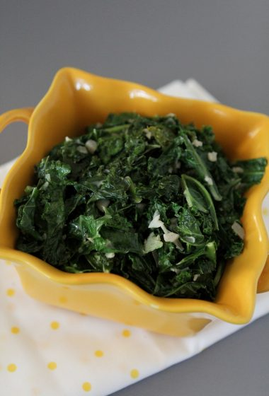 Creamed Kale from the Whole Smiths. A great dairy-free alternative to creamed spinach. Paleo friendly, gluten-free and Whole30 compliant.