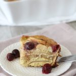 Paleo Fruit Breakfast Frittata with Cherries and Apples