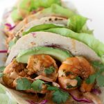 baja shrimp taco + chipotle crema