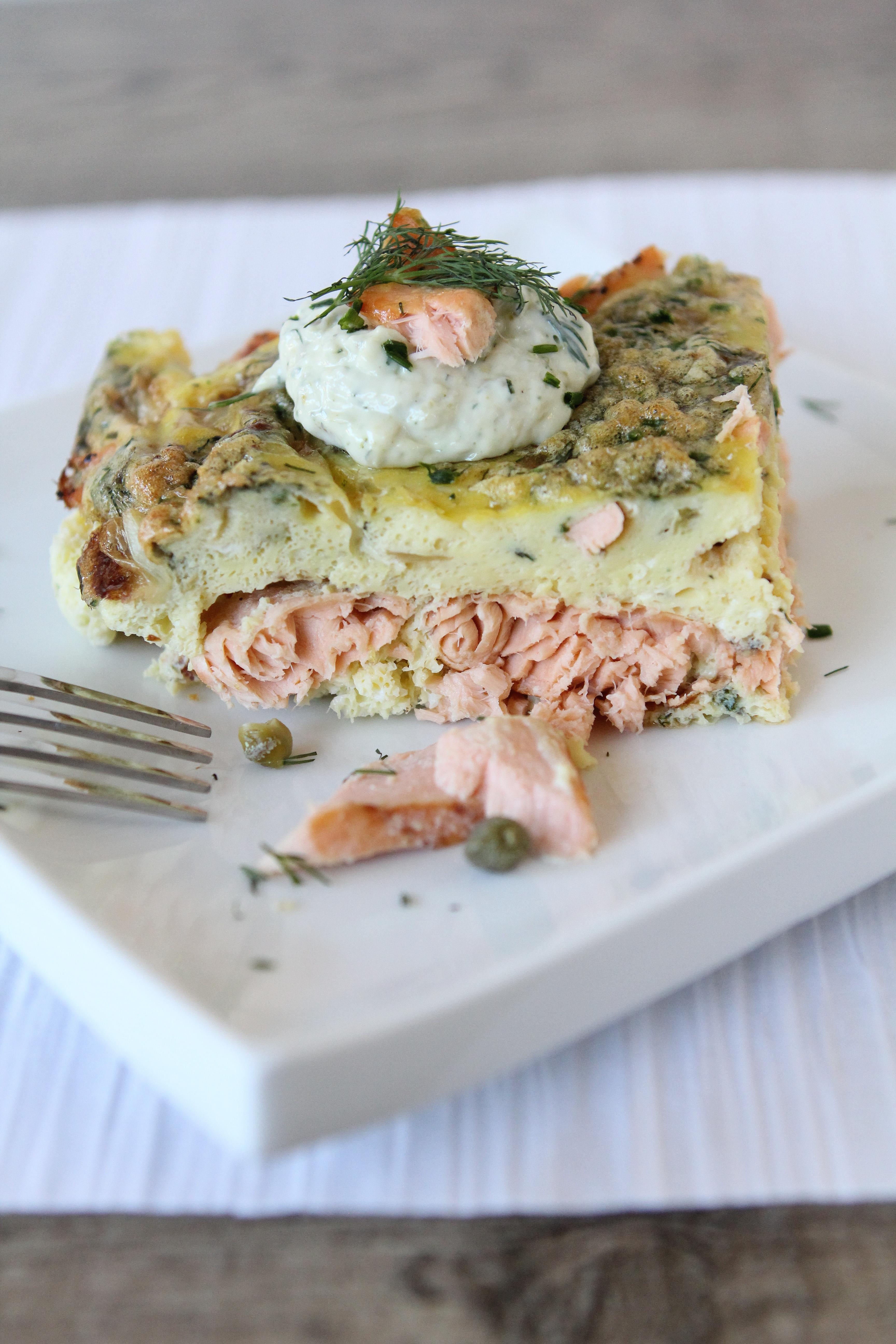 Salmon Breakfast Frittata The Whole Smiths
