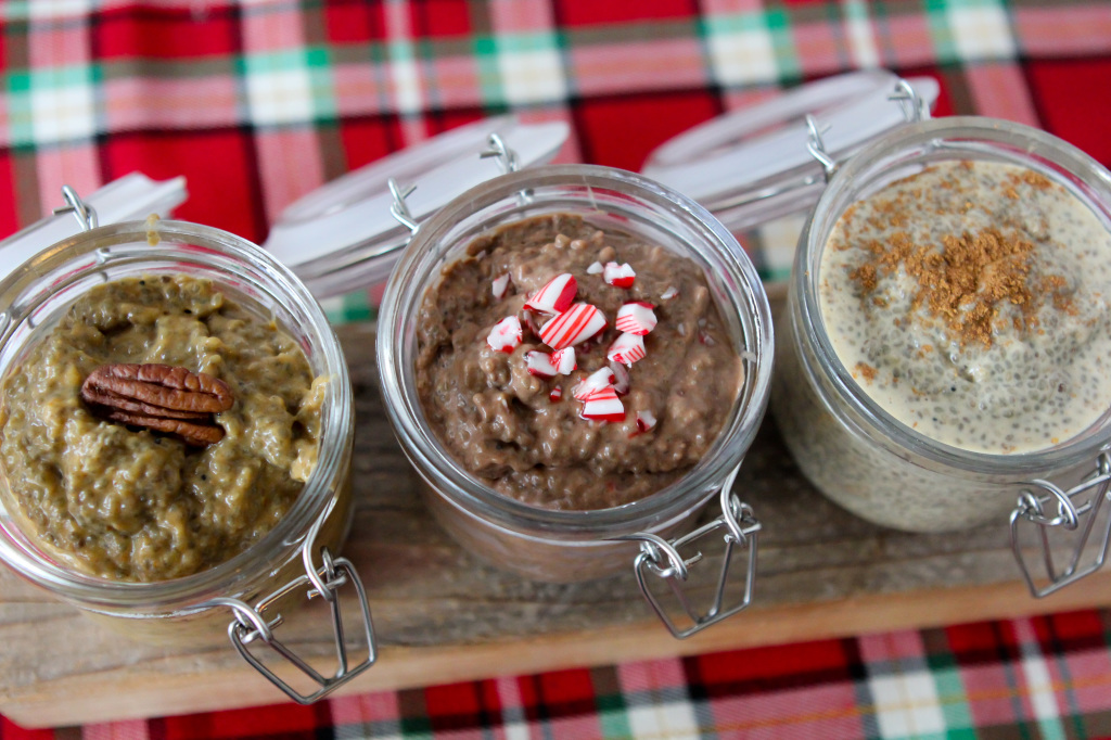 chia pudding paleo chocolate mint egg nog pumpkin