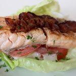 salmon blt wrap