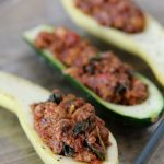stuffed squash with fennel + mushrooms