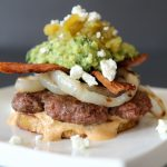 green chile + chipotle mayo burger