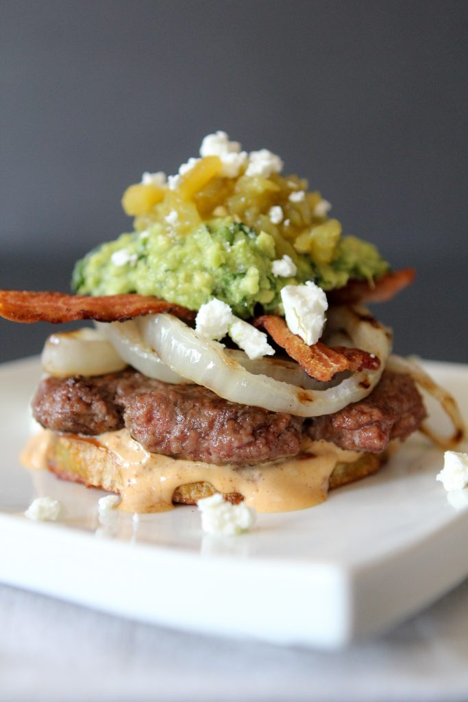 This Green Chile + Chipotle Burger makes a perfect dish for any grain-free BBQ!