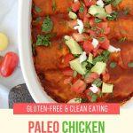 Paleo chicken enchiladas pinterest graphic