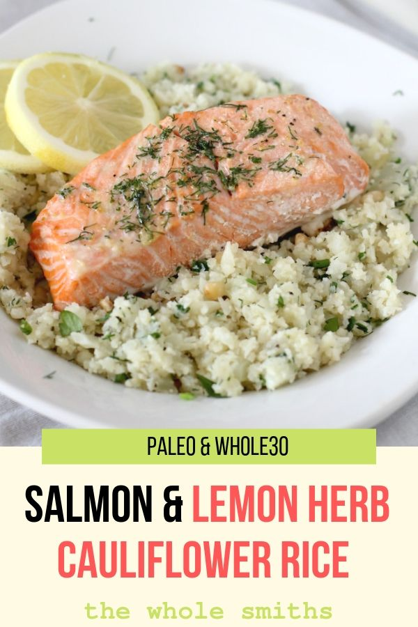 Paleo Roasted Salmon Pinterest Gaphic