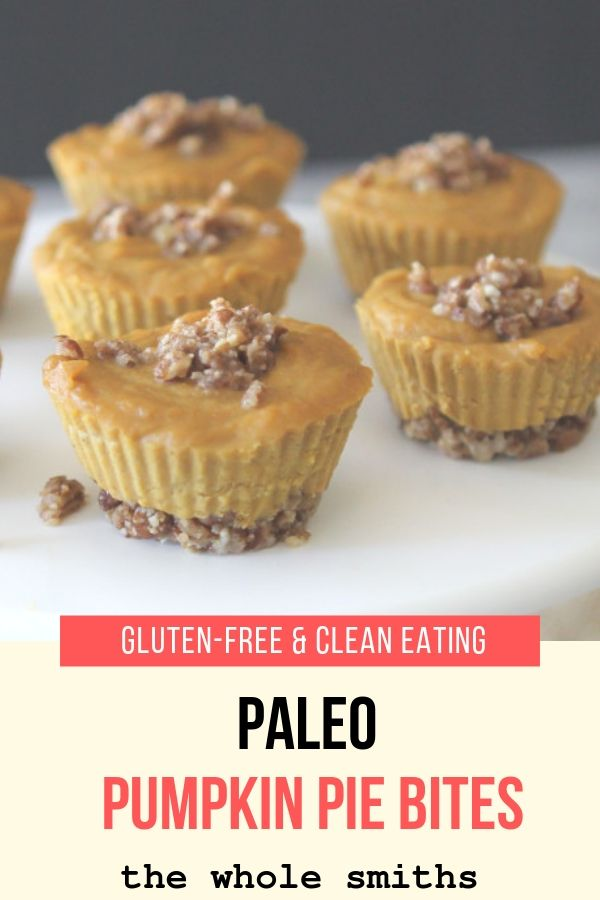 Paleo Pumpkin Pie Bites Pinterest Graphic
