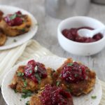 chipotle turkey fritters + jalapeno cranberry sauce