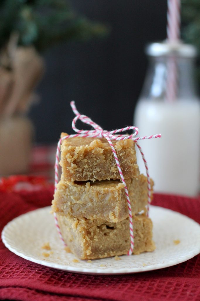 Paleo Egg Nog Blondies from the Whole Smiths. Gluten-free and paleo friendly.
