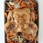 The Whole Smiths' Whole Roasted Chicken. Perfectly cooked roasted chicken and the secret to the crispiest skin! Whole30 compliant, paleo friendly and gluten free.