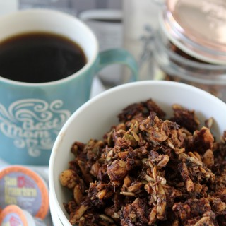 Grain-free Mocha Granola from the Whole Smiths. Easy to make, paleo friendly, gluten and grain free. You won't believe how easy (and delicious) this is!