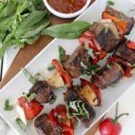 thai basil beef kebabs