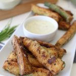 Grain-Free Zucchini Fries + Zesty Ranch Dip