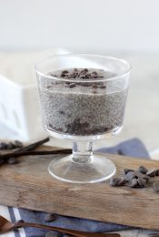 This Chocolate Chip Chia Pudding from the Whole Smiths is the perfect treat for everyone. It's paleo friendly, gluten-free, vegan and vegetarian.
