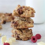 Grain-Free Raspberry + White Chocolate Chunk Cookies