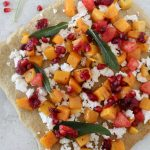 Butternut Squash + Orange Cranberry Flatbread