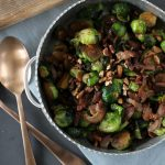 Bourbon Glazed Brussels Sprouts
