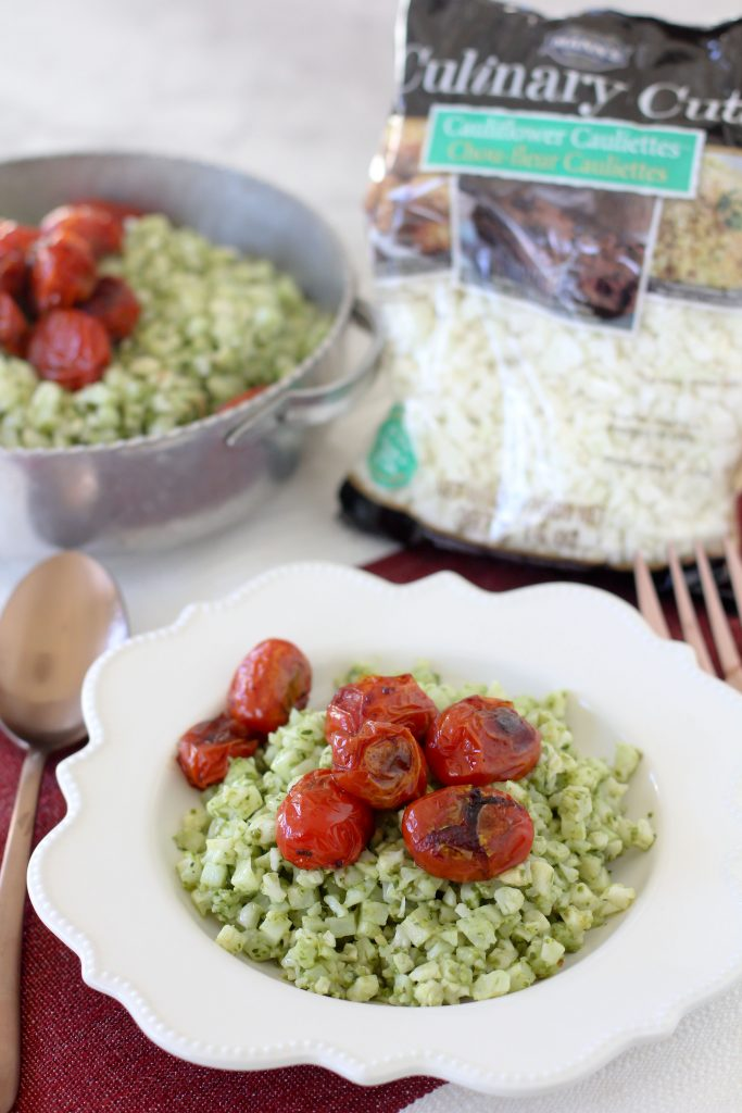 An easy-to-make Pesto Cauliflower Rice recipe from the Whole Smiths! Paleo-friendly, vegan, vegetarian and Whole30 compliant.