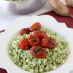 Pesto Cauliflower Cauliettes + Blistered Tomatoes