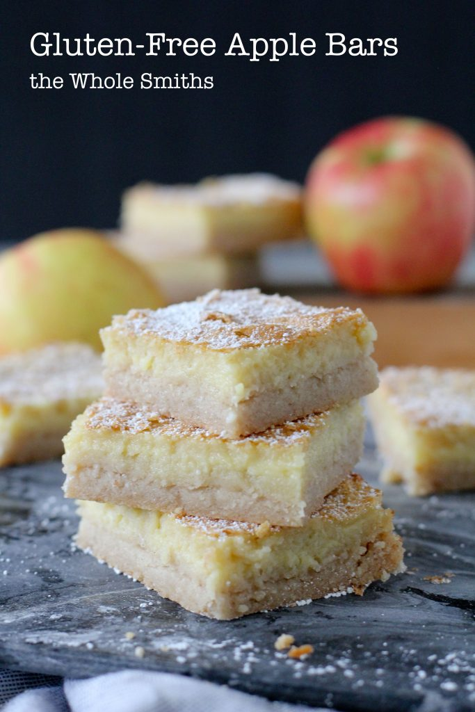healthy apple bars - Pinterest Graphic