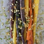Roasted Carrots + Pinenuts