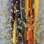 Roasted Carrots + Pinenuts