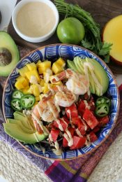 This easy-to-make Summer Shrimp Salad from the Whole Smiths is PERFECT for your Whole30. So easy to prep ahead of time, delicious and filling!