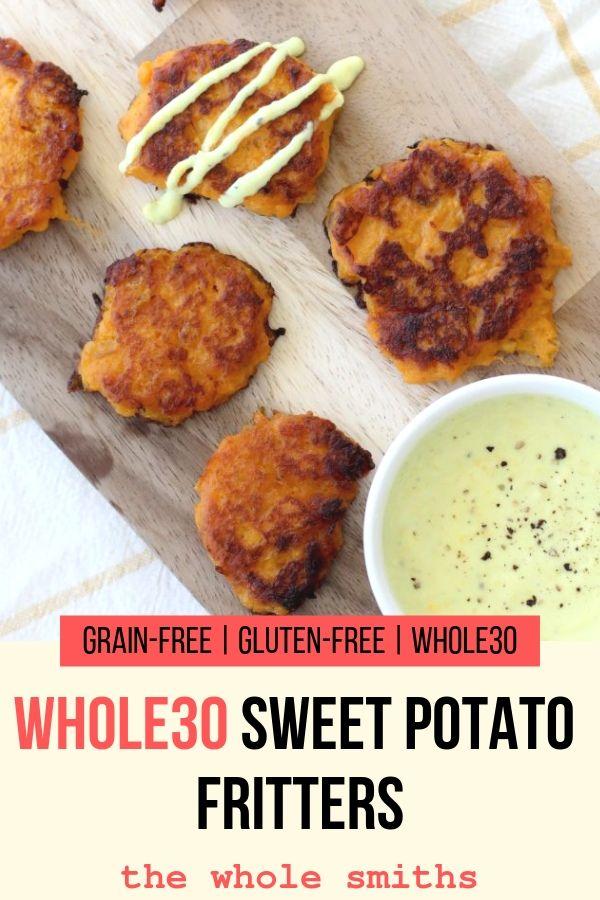 Whole30 Sweet Potato Fritters Pin