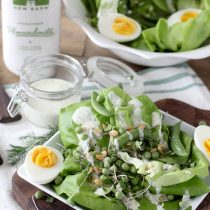 Giant Green Salad with Dill + Cracked Black Pepper Dressing