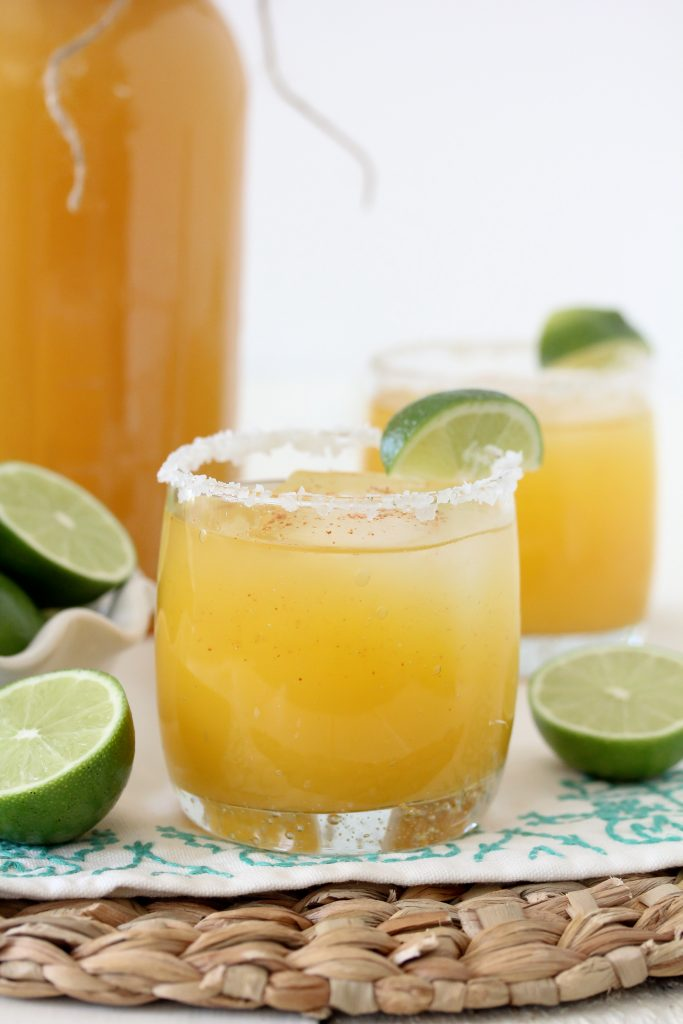 These Mason Jar Margaritas from The Whole Smiths are the perfect treat to take along for any occasion.