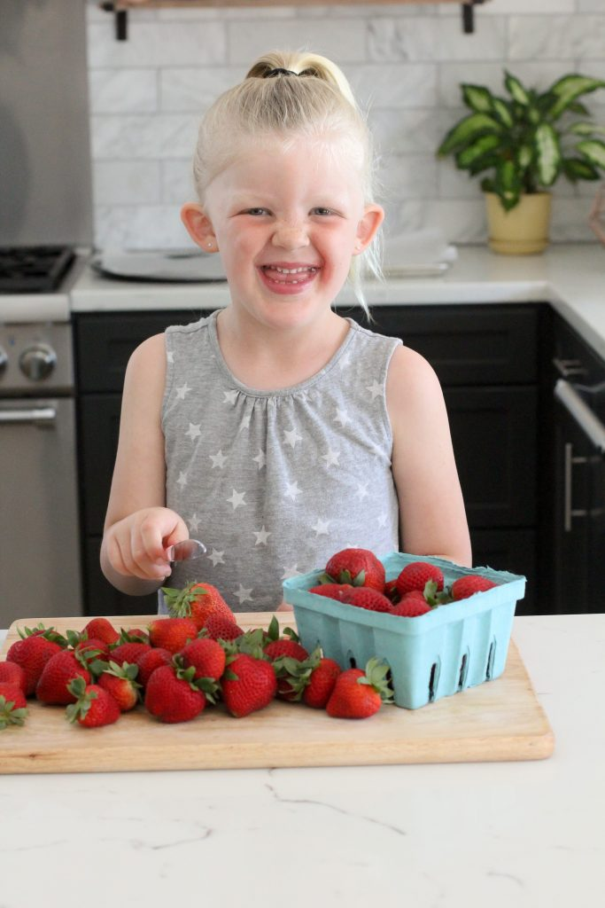 This recipe uses fresh California strawberries and is not only delicious but easy to make. So easy that the kids can make this for you! Gluten-free & paleo!