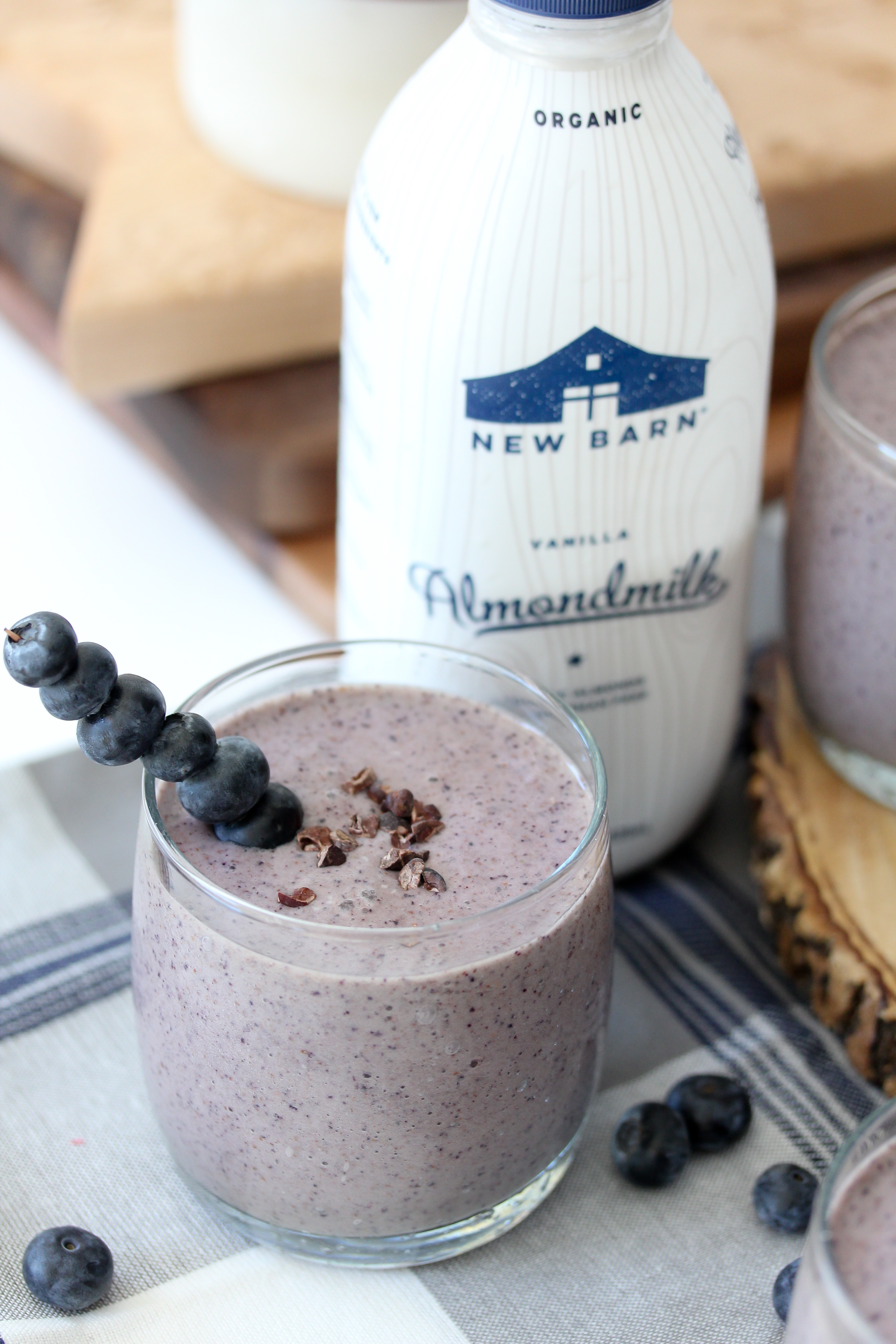 Blueberry Chip Collagen Smoothie from The Whole Smiths. Dairy-free and paleo.