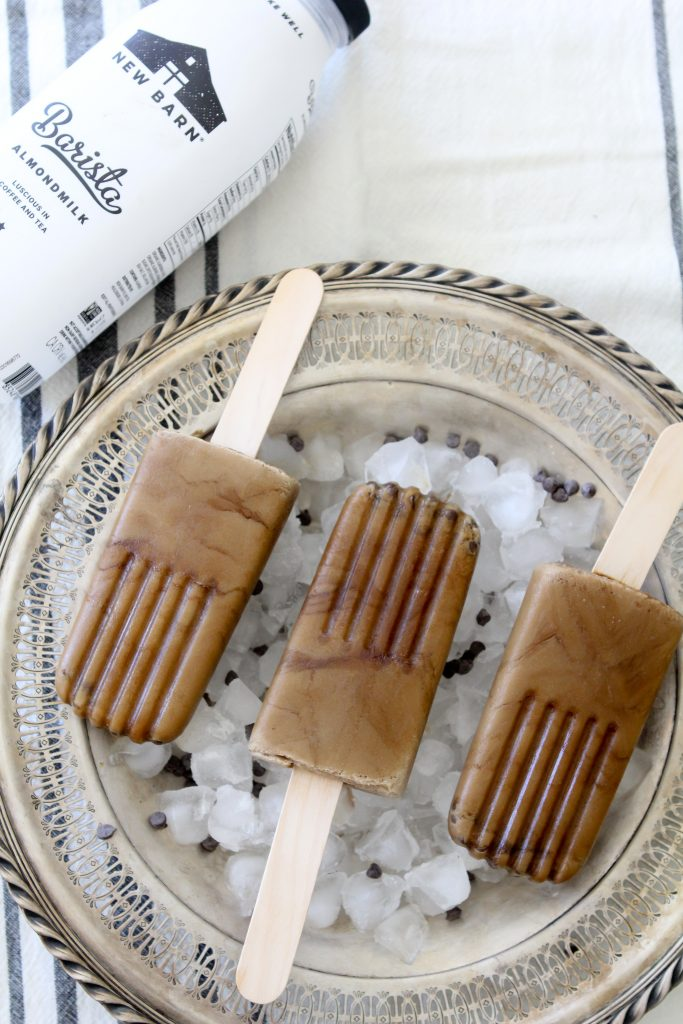 These Dairy-Free Espresso Chip Ice Pops from The Whole Smiths are the summer treat you can feel good about enjoying! Dairy-Free and paleo.