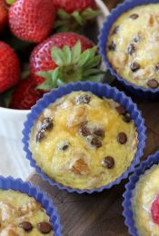Banana Egg Muffins from The Whole Smiths. Easy, portable and the PERFECT breakfast. Paleo, grain-free, dairy-free, and delicious!