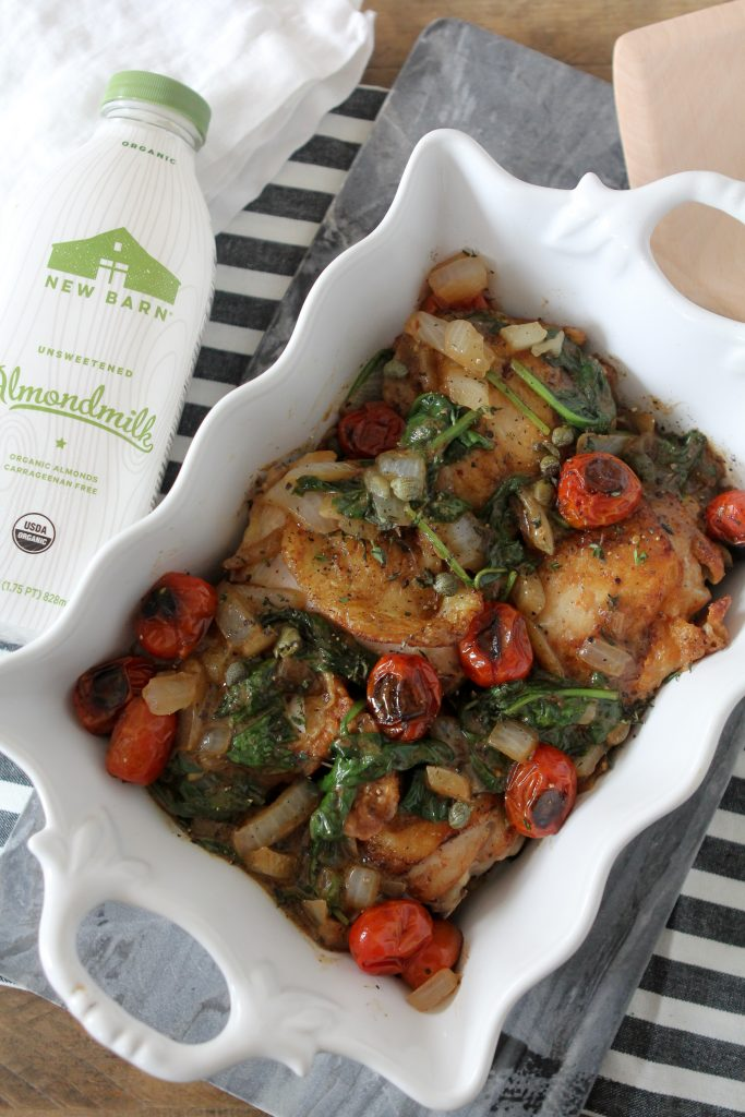 This Creamy Mustard Chicken + Spinach from The Whole Smiths is not only paleo and dairy-free but it's Whole30 compliant. A simple yet decadent recipe that's great for a busy weeknight.