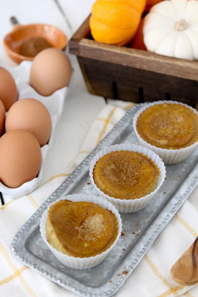 Pumpkin Pie Breakfast Egg Bites from The Whole Smiths. Paleo, gluten-free and delicious! So easy to make.