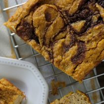 Easy Healthy Pumpkin Bread Recipe with Cinnamon Swirl (Grain-free)