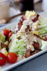 This Whole30 compliant Thousand Island Dressing + Wedge Salad from The Whole Smiths will knock your socks off! Easy to make and delicious any time!