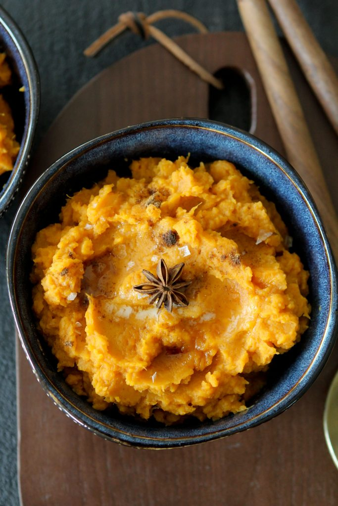 This Chai Spiced Sweet Potato Mash from The Whole Smiths takes your sweet potatoes to the next level. It's dairy-free and decadent!