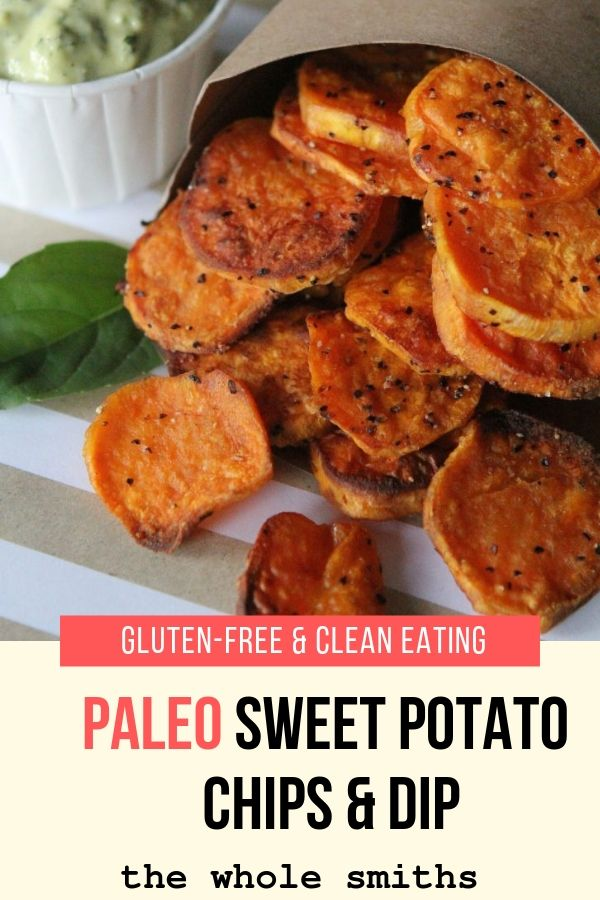 Paleo Sweet Potato Chips and Dip Pin