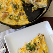 Healthy Broccoli Chicken Cheddar Frittata Recipe