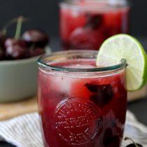 Cherry Cola Kombucha Smash Cocktail
