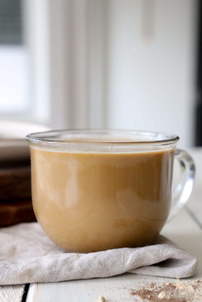 pumpkin chai latte with maca powder and ashwagandha
